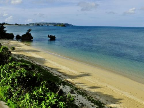 穏やかなビーチが広がっております。
