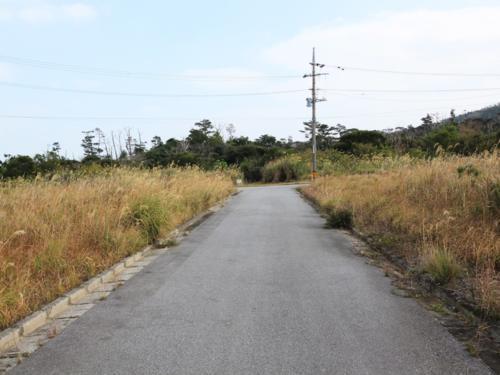 区画整理で綺麗に整備された道路が目の前にございます。